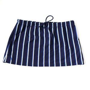 Ralph Lauren sport striped swim skirt blue